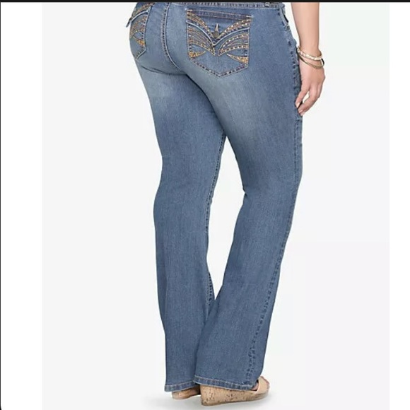 "Torrid Bootcut Jeans Rhinestones sz 12 inseam 32"""